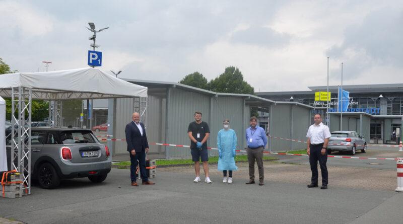Testzentrum am Flughafen