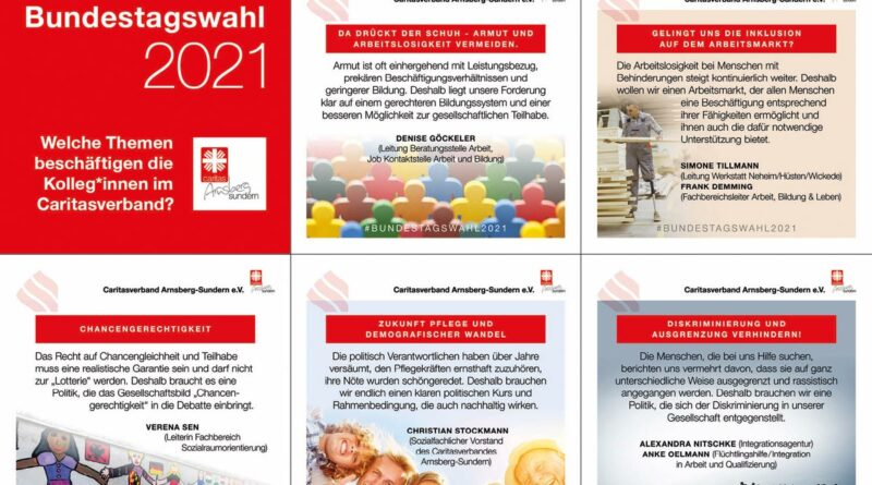 Caritas aktiv zur Bundestagswahl
