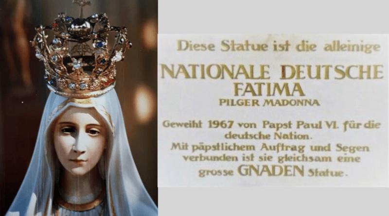 Nationale deutsche Fatima Pilgermadonna