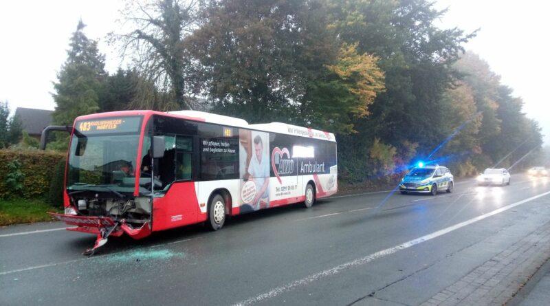 Unfall der RLG Buslinie 483